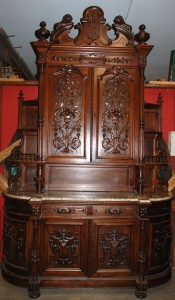 walnut victorian buffet ,walnut victorian sideboard at charlies antiques in williamsburg va