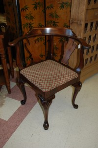 mahogany ball and claw foot corner chair at charlies antiques in williamsburg va