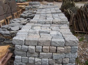 granite belgium blocks for landscaping at charlies antiques in williamsburg va, grey or pink granite belgium blocks for landscaping
