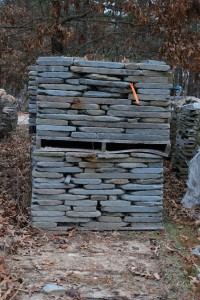 landscaping rock, tumbled bluestone for stone walls and stone landscapes at charlies antiques in williamsburg va