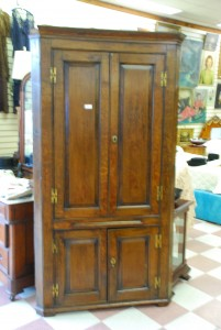 antique oak corner cupboard at charlies antiques in williamsburg va