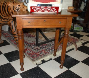 early antique walnut side table at charlies antiques in williamsburg va