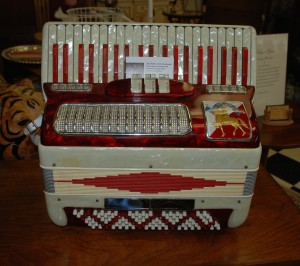 mother of pearl accordion at charlies antiques in williamsburg va
