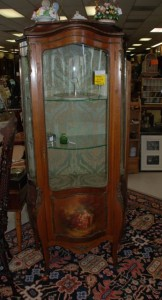 french hand painted curio cabinet at charlies antiques in williamsburg va