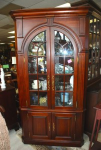 cherry corner cabinet at charlies antiques in williamsburg va