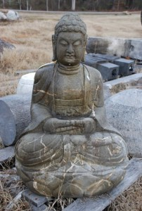 stone buddha statue at charlies antiques in williamsburg va