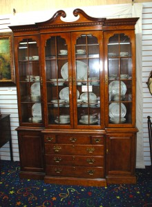 Large Breakfront China Cabinet At Charlies Antiques In