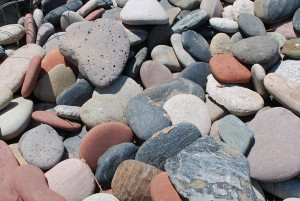 kewannee pebbles for ponds or landscaping gardens at charlies antiques in williamsburg va