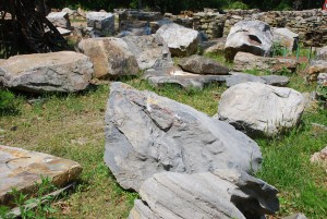 stone boulders for garden and stonescaping at charlies antiques in williamsburg va