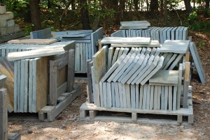 cut bluestone pavers for patios, pathways or gardens at charlies antiques in williamsburg va