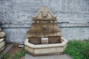 stone fountain in williamsburg va, carved stone fountain in williamsburg va, garden fountain