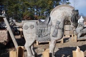 large carved stone horses at charlies antiques in williamsburg va,stone horse statues at charlies antiques in williamsburg va