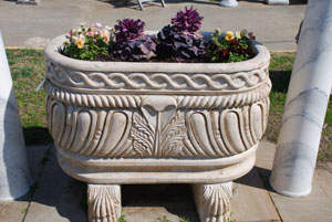 travertine planter copied from a antique french trough at charlies antiques in williamsburg va