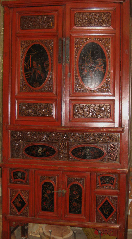 Antique Oriental Cabinet At Charlies Antiques In Williamsburg Va,carved  Antique Oriental Chest At Charlies