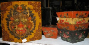 decorative oriental boxes at charlies antiques in williamsburg va