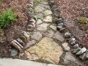 fieldstone pathway for garden at charlies antiques