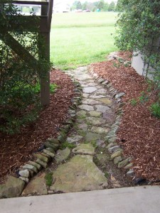 fieldstone pathway for garden at charlies antiques in williamsburg va