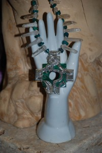 sterling and malachite necklace at charlies antiques in williamsburg va