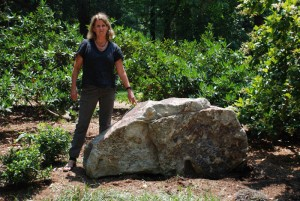 boulder for landscaping garden at charlies antiques in williamsburg va