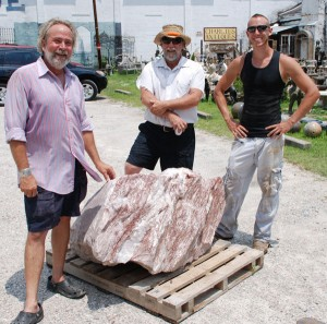 sparking pink boulder at charlies antiques in williamsburg va