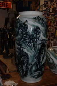 Hand painted china vase at charlies antiques in williamsburg va