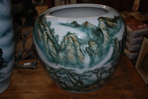 handpainted china vase