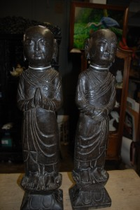 stone monks at charlies antiques in williamsburg va