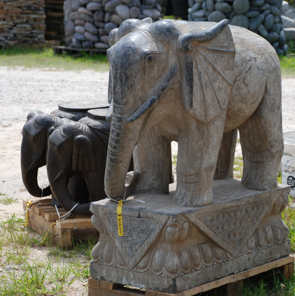 stone carved elephant statue for yard ornament at charlies antiques in williamsburg va