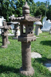 carved stone japanese lantern for garden ornament at charlies antiques in williamsburg va