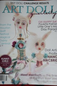 "Katie Crawford Art""s clay people will be displayed in art Doll Quarterly Magazine"