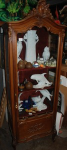 french walnut curio cabinet at charlies antiques in williamsburg va