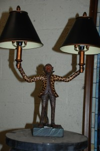 resin monkey lamp at charlies antiques in williamsburg va