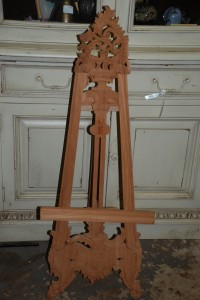 hand carved mahogany mini easel at charlies antiques in williamsburg va