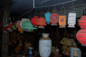 oriental lanterns for home decor or garden ornaments at charlies antiques in williamsburg va