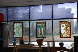 stained glass window accent pieces to interior decorate with at Charlies Antiques in williamsburg va