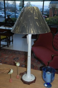 old bar stool lamp at Charlies Antiques in williamsburg va