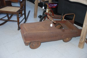 antique fire engine pedal car at charlies antiques in williamsburg va