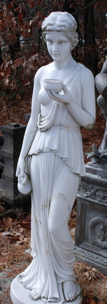 marble lady statue at charlies antiques in williamsburg va