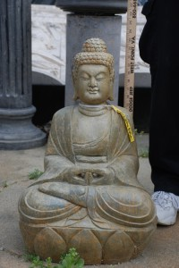 stone buddha for zen garden, buddha for garden decor at charlies antiques in williamsburg va
