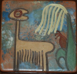 clay tile from peru at charlies antiques