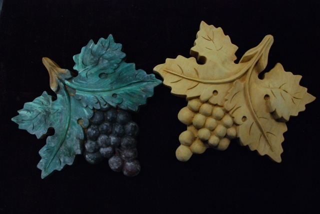 handcarved architectural appliques of grapes at charlies antiques in williamsburg va