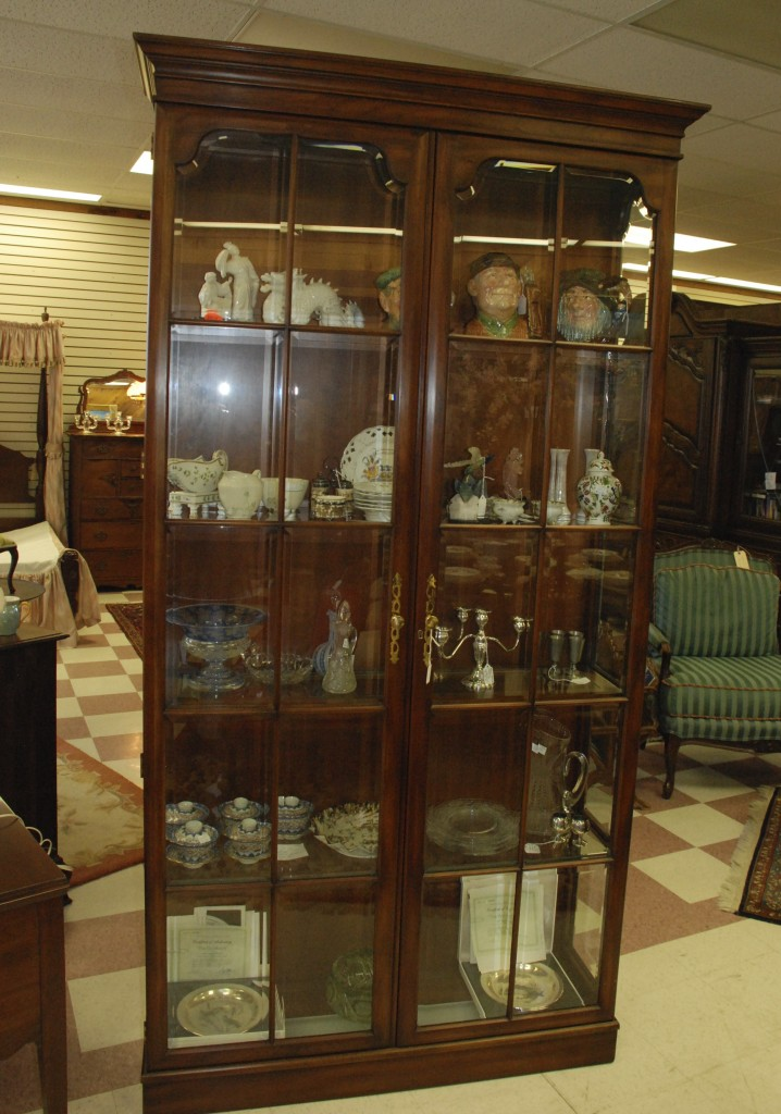 curio cabinet, china cabinet at charlies antiques at charlies antiques in williamsburg va