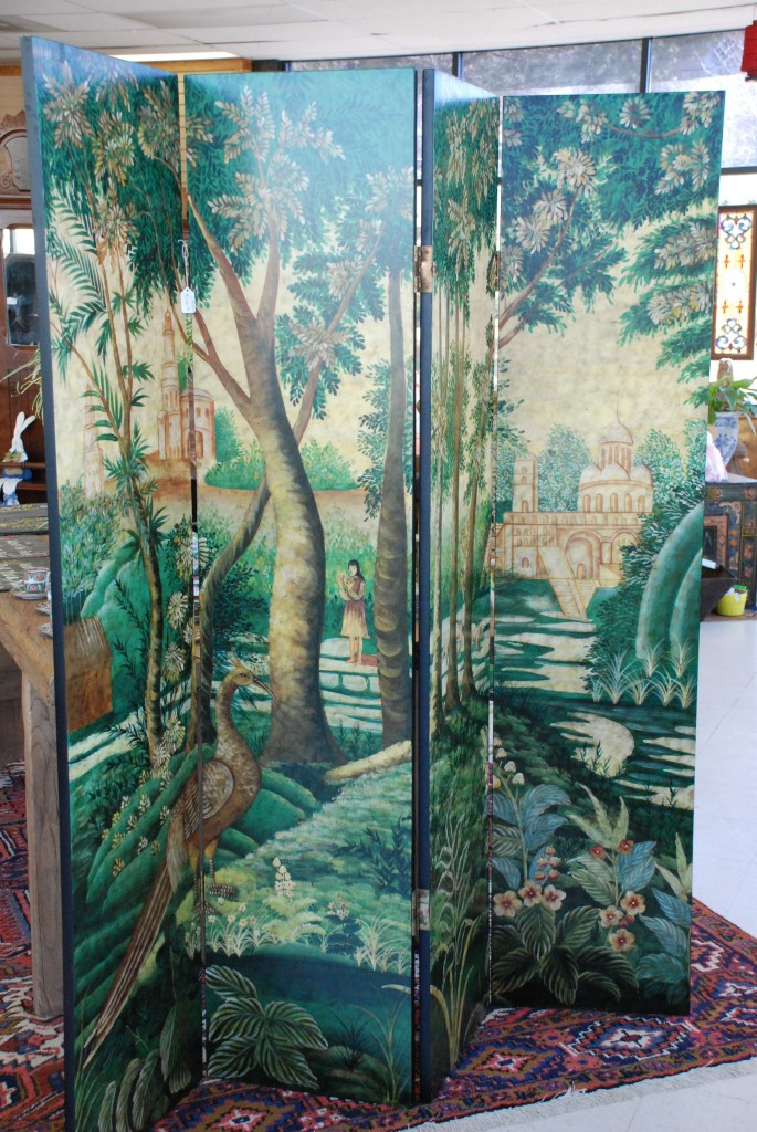 folding screen, room divider at charlies antiques in williamsburg va