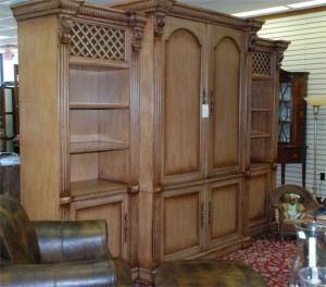 entertainment center,tv and dvd stand,bookcase at charlies antiques in williamsburg va