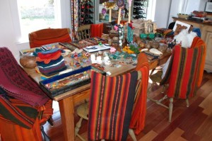 colorful textiles at charlies antiques in williamsburg va