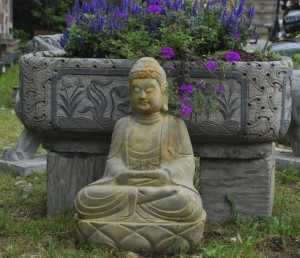 stone planter,carved stone buddha,stone troughs for planting at charlies antiques in williamsburg va