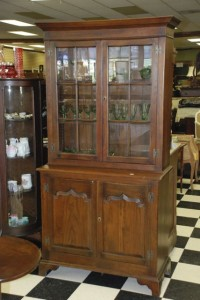 elm glass door cupboard at charlies antiques in williamsburg va