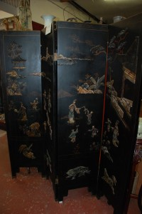 Oriental folding screen at charlies antiques in williamsburg va