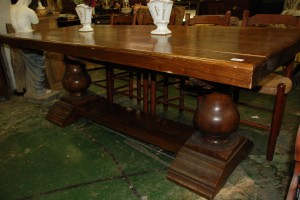 large dining table at charlies antiques in williamsburg va