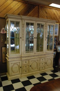 hickory white breakfront at charlies antiques in williamsburg va